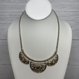 Brighton Gwenevere Lace Statement Necklace Silver